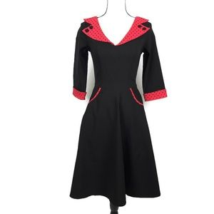 Hell Bunny Vixen Evie 50s Rockabilly Midi Dress